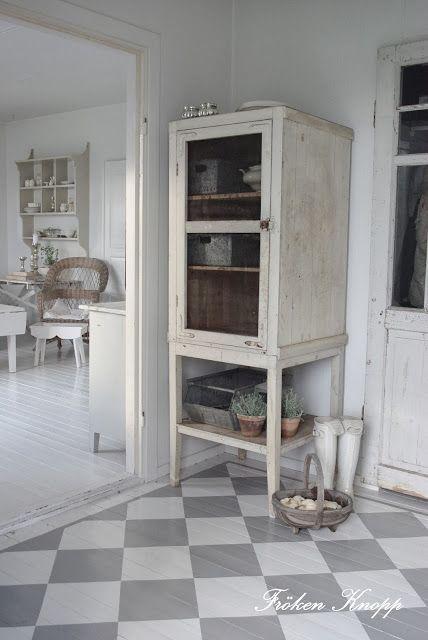 Dove Gray Home Decor ♅ Grey And White Checkerboard Floor