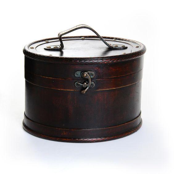 Koffer braun Sperrholz ca. D:25,5cm    15,99€