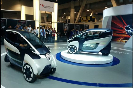 L'iRoad, le futur de la mobilité urbaine selon Toyota. #ces2014