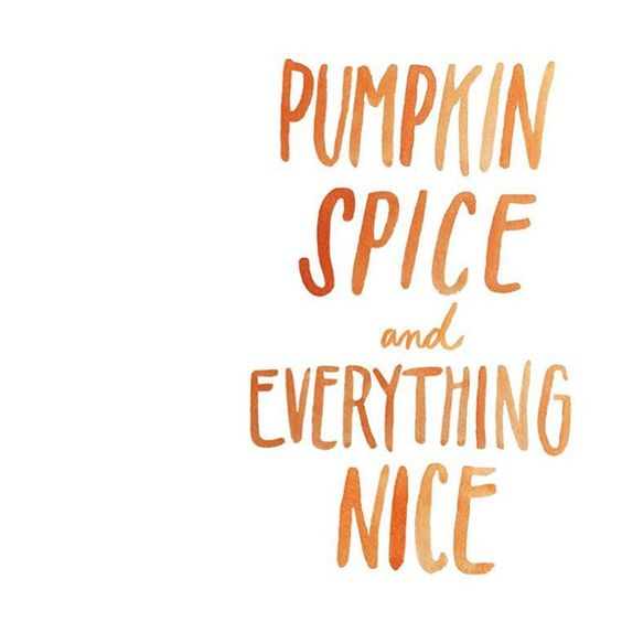 pumpkin spice and everything nice \ hand lettered quote