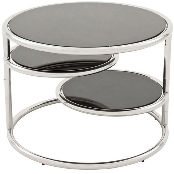 Eichholtz Rizer Side Table (1,965 CAD) ❤ liked on Polyvore featuring home, furniture, tables, accent tables, glass top coffee table, circular table, glass top table, round glass top table and round table