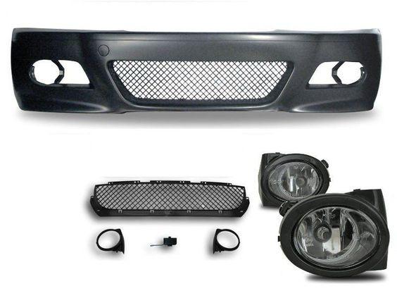 M3 Look Pare Chocs Pour BMW E46 Berline Coupé Cabriolet Phares Antibrouillard…