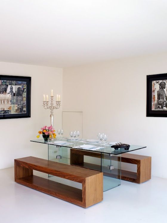 como decorar a sala de jantar, poucos móveis na sala de jantar