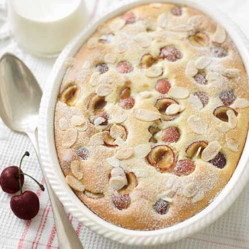 Cherry and almond clafoutis
