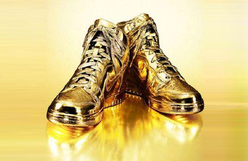 Genuine 24K Gold Nike Dunks by Kenneth Courtney