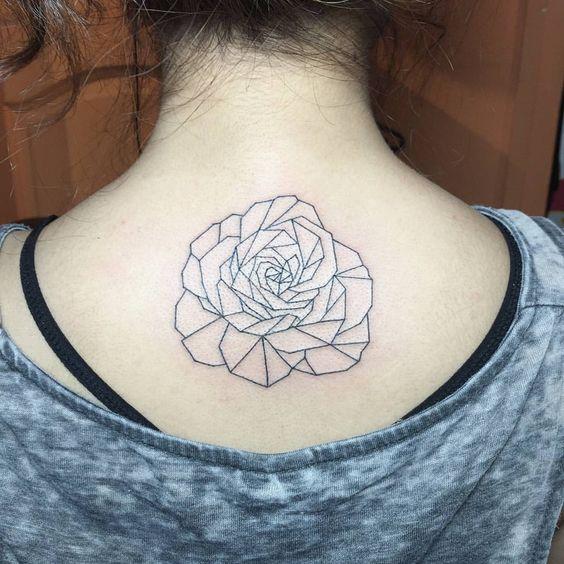Geometric rose 🌹 #tattoo #tattoos #sgtattoo #sgtattoos #singaporetattoo #singaporetattoos #inked #create #design #art…