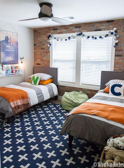 . A shared boys bedroom   Bricks  Bedrooms and Urban loft