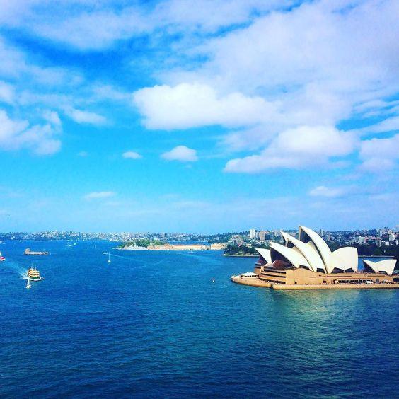 Looking good today Sydney #sydney #sydneyoperahouse #operahouse #operahousesydney #view #harbourbridge #sydneyharbourbridge #cirqularquay #onthetop #australia by sjaanum http://ift.tt/1NRMbNv