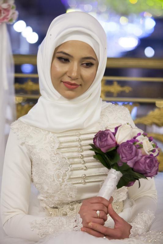 The Enforcers Chechens Discourage Indecency At Weddings Proper Wedding Bride Bride Dress