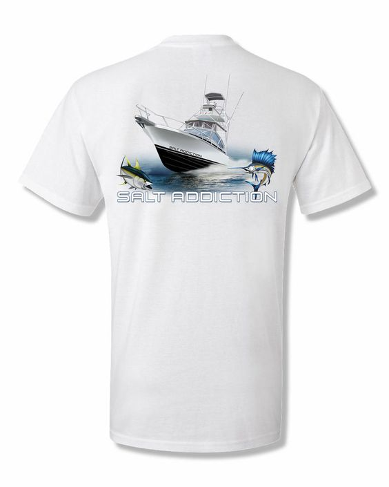 details about salt addiction fishing t shirt saltwater