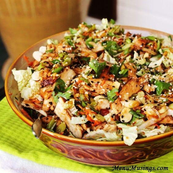 Grilled ginger sesame chicken salad http://menumusings.blogspot.com/