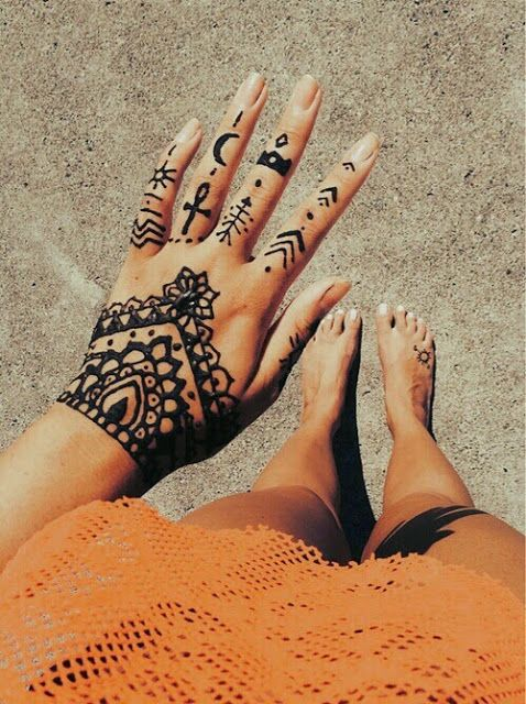 Mehndi Designs For Fingers A Women S Club : How to chic henna tattoo inspiration
