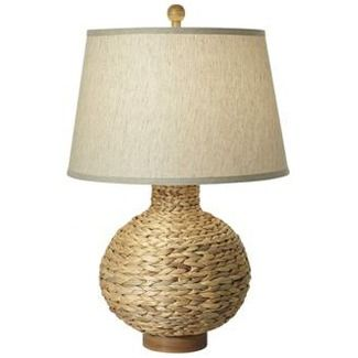 Pacific Coast Lighting Seagrass Bay Round Table Lamp in Natural - 87-6402-48