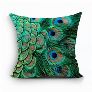 Mooie pauw decoratieve kussens dier Kussensloop veer cojines 45X45 cm kussen…