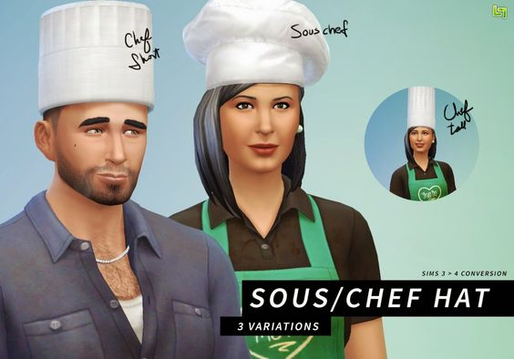 My Sims 4 Blog: TS3 to TS4 Sous/Chef Hats by LumiaLover Sims
