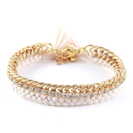 Celebutante Bracelet In Gold and Cream