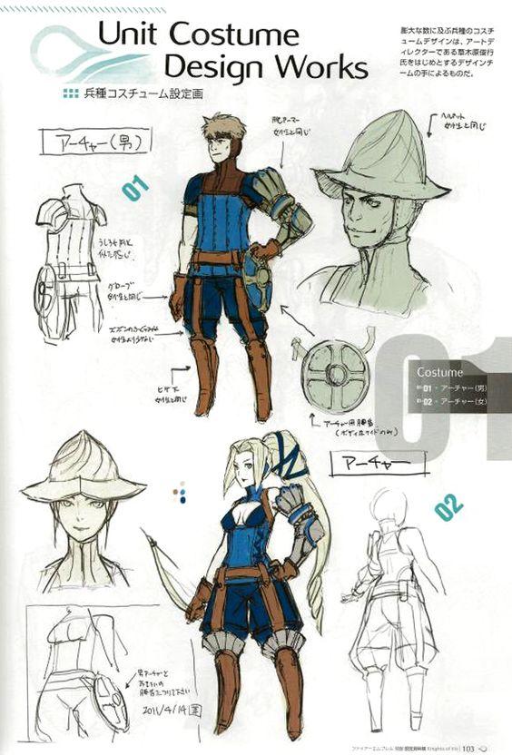 fire emblem awakening concept art 2d characters