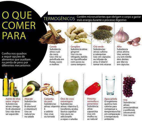 alimentos que auxiliam na perda de peso