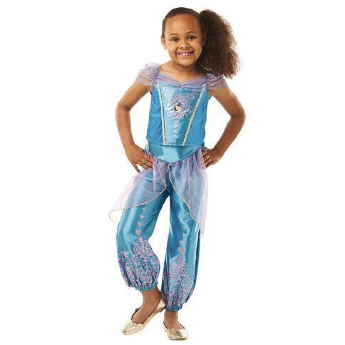 Jasmine Girls Fancy Dress Disney Princess Aladdin Fairytale Book Kids Costume