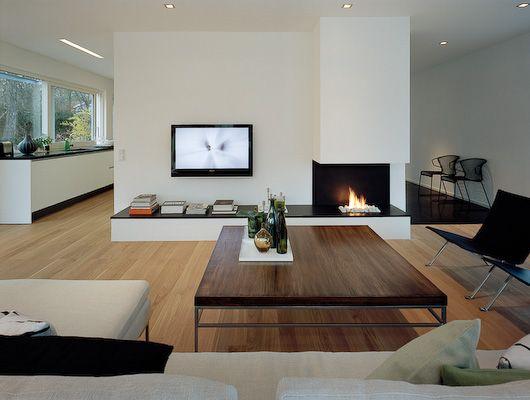 Mittlere Teilung, aber schmaler Häuser Pinterest Schmal - wohnzimmer modern mit ofen