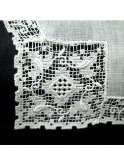 Filet Lace-edged Linen...