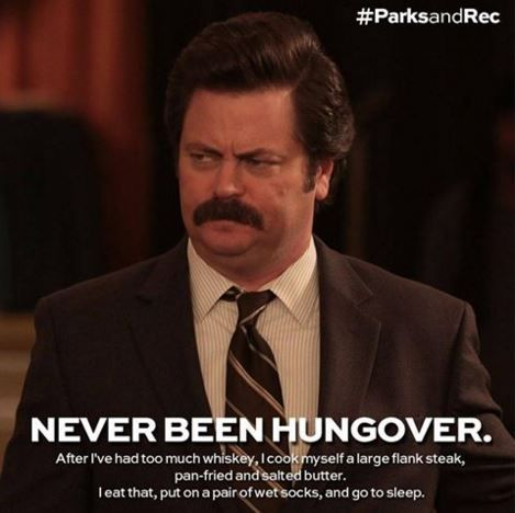 Never Been Hungover.