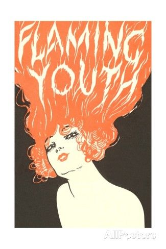 Flaming Youth, Woman with Flaming Hair Impressão giclée
