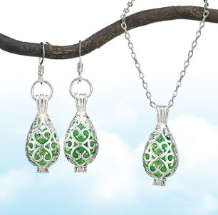 Spring Clearance Sale - Green Glass Jewelry
