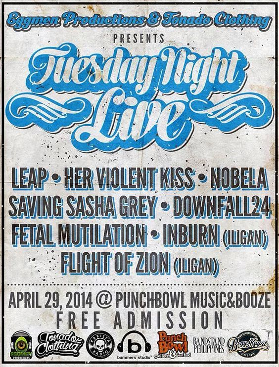 « TUESDAY NIGHT LIVE » April 29 @ PUNCHBOWL »