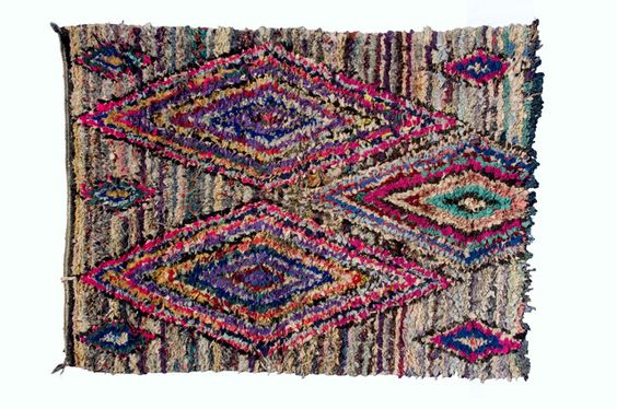 The colors on this vintage Moroccan rug are to die for.