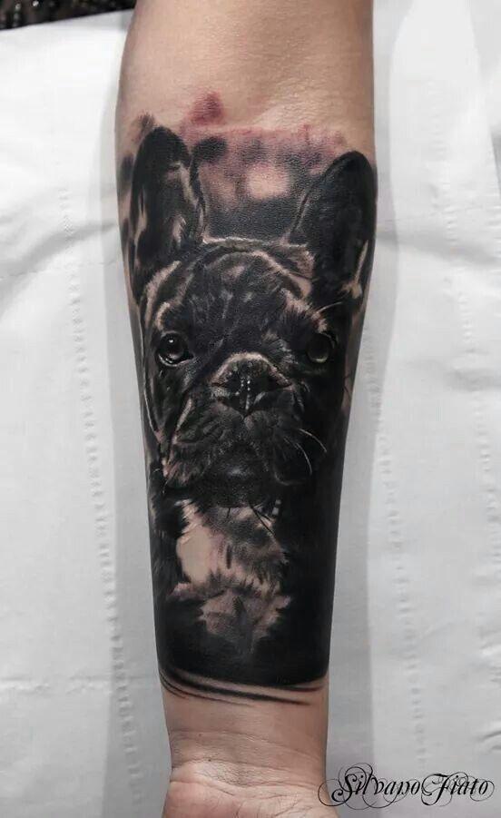 Tattoo Frenchie Frenchbulldog Frenchbulldogtattoo