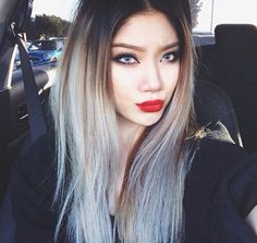 black to grey ombre hair , Google Search