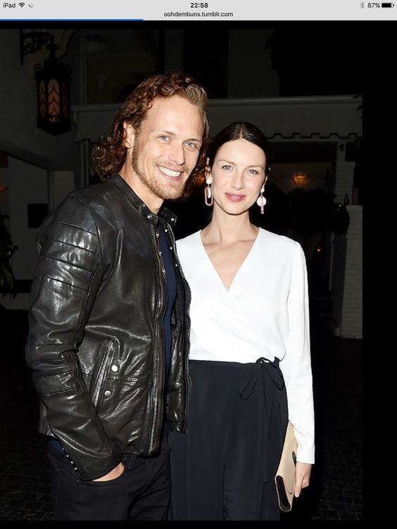 Cait and Sam from Starz Pre-Golden Globe party, 8.1.16 | Outlander ...