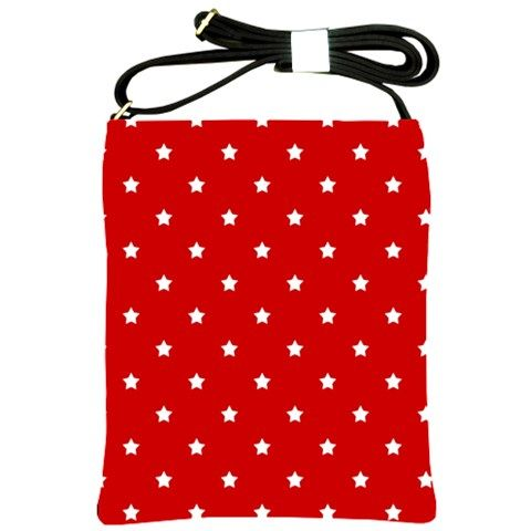 White Stars On Red Shoulder Sling Bag