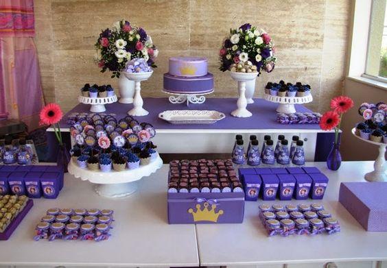 Minha Princesa Sophia 50 ideias para decoraç u00e3o Festa Princesinha Sofia Aniversário  -> Decoração De Aniversário Princesa Sofia