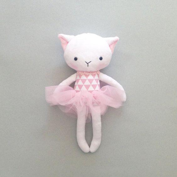 Cat rag doll - Plush cat - Handmade cat doll - Stuffed toy - plush doll - Cloth…