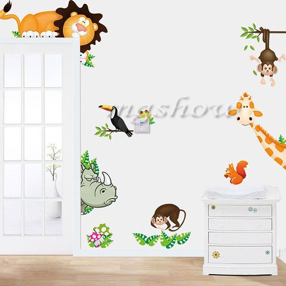 Animals Lion Removable Wall Sticker Decals for Kids Nursery Baby Room Decor DIY