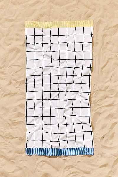 Printed Grid Perfect Beach Towel