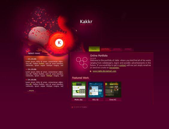 Portfolio v1 by ~kakkr                  Designs & Interfaces / Web Interfaces