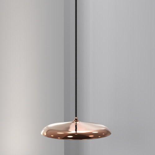 Ansehnliche LED Pendelleuchte Artist 25 in kupfer, dimmbar