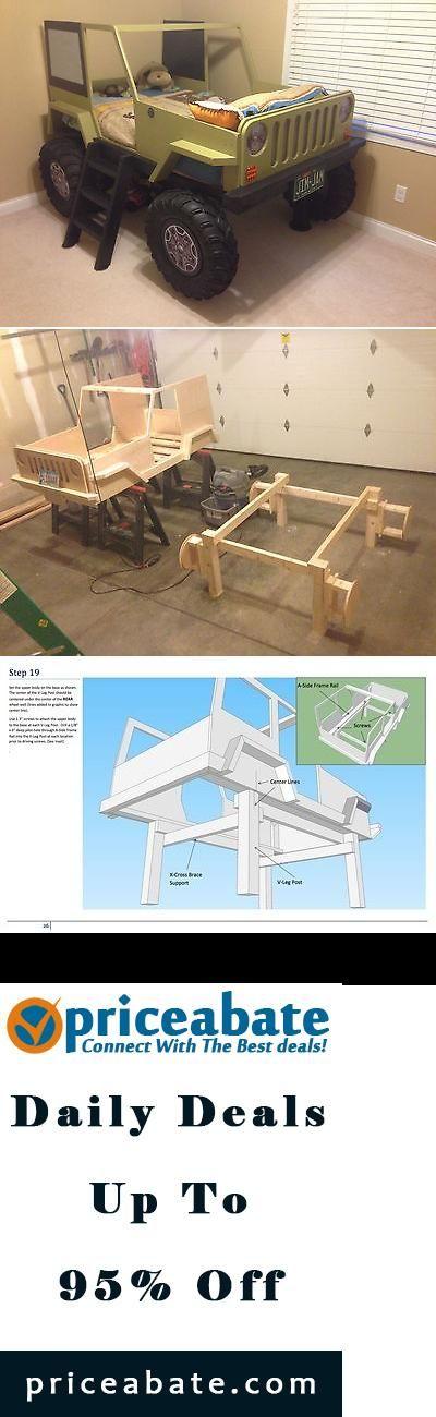 #Priceabate Jeep Bed Wood Working Plans - DIY Kids Bed - Buy This Item Now For…