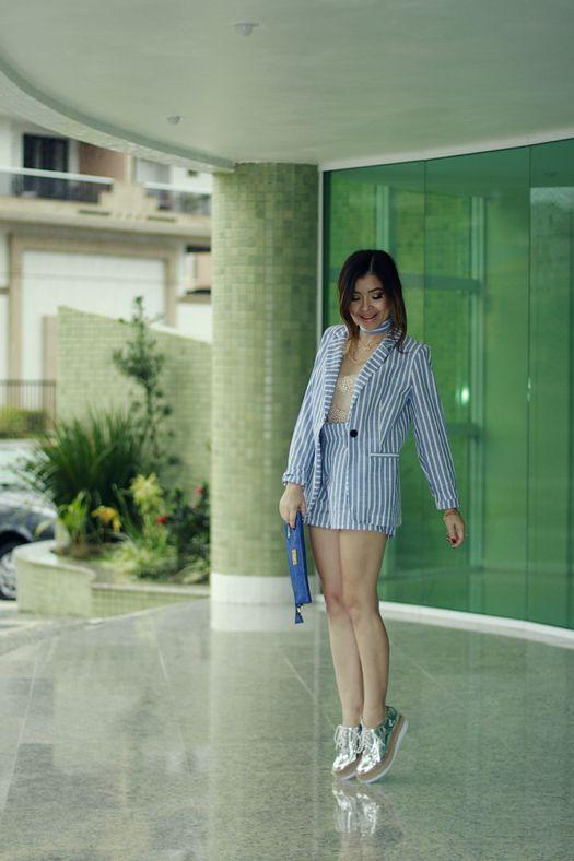 Blog da Lê-Moda e Estílo: Look - Listras com metalizado