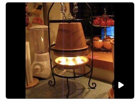 Terracotta Pot Heater Stand Idea Candle Heater Diy Heater Space Heater Diy
