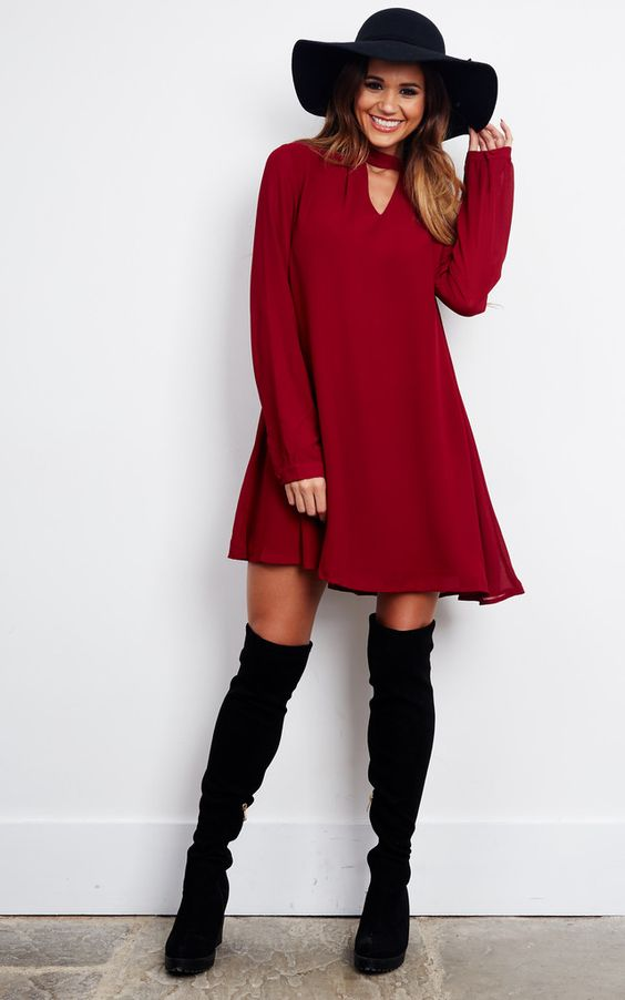Silkfred red dress goes