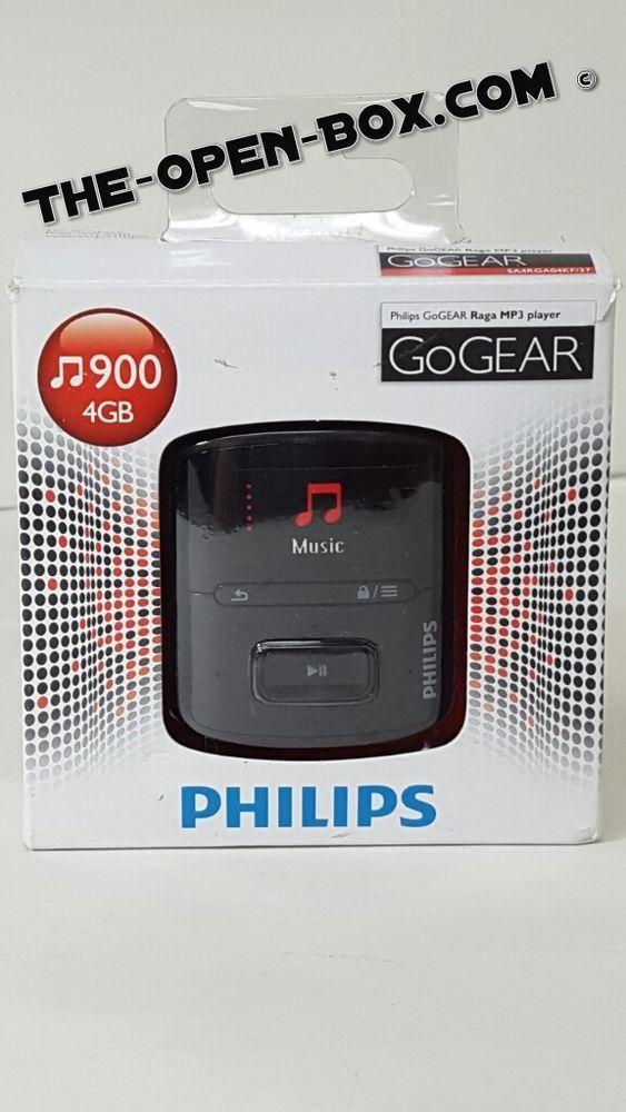 Philips Sa4rga04kf 37 Gogear Raga Mp3 Players Black 4gb V7 Philips Mp3 Players Mp3
