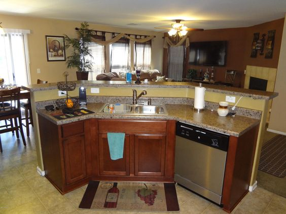 island with cooktop and eating area is down - Google Search