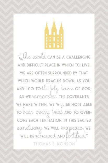 Blessings of the temple--I love this