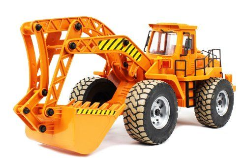 Construction Excavator Digger 3068 Electric RC Truck RTR, Ready To Run, Working Digger Arm w/ Lifting & Dumping Actions