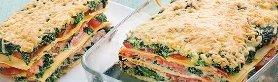 Vers van de Teler | Onze recepten | Zalm spinazie lasagne