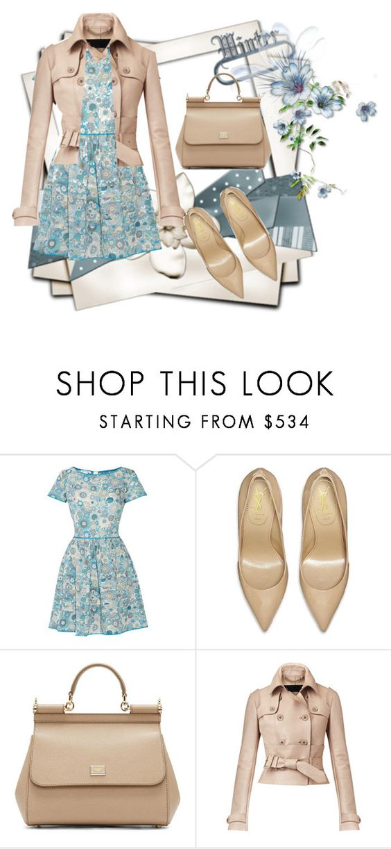 """""""Untitled #137"""" by jovana-p-com ❤ liked on Polyvore featuring Oscar de la Renta, Yves Saint Laurent, Dolce&Gabbana and Burberry"""